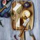 Plateau à fromages et couteaux