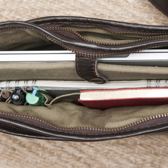 Briefcase fait main, 100% cuir