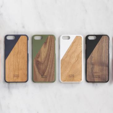 Coques iPhone en bois Clic