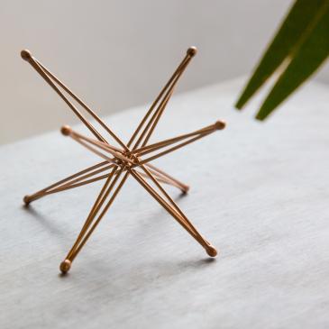 Étoile pliable en bronze