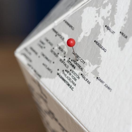 Globe sur mesure