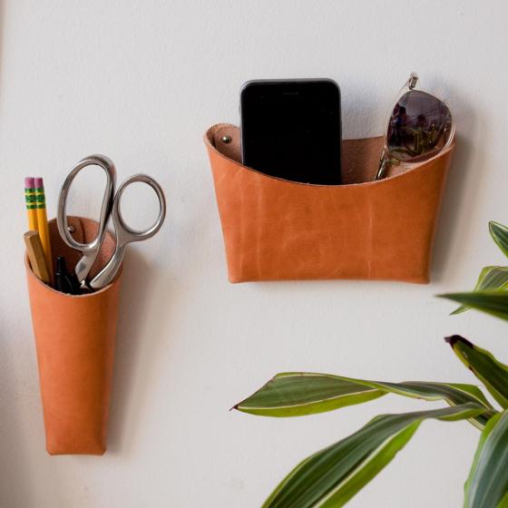 vide poche en cuir les raffineurs. Black Bedroom Furniture Sets. Home Design Ideas