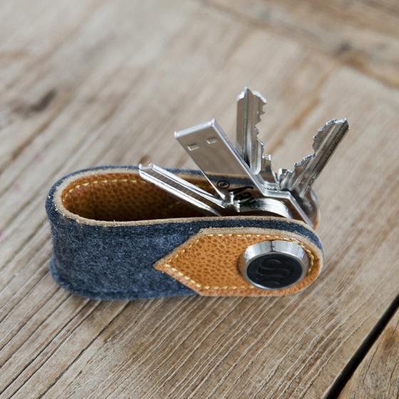 Porte cl s cuir et feutre s key les raffineurs - Fabriquer porte cle ...