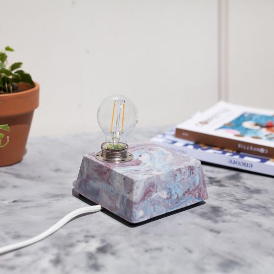 Lampe en béton à construire soi-même