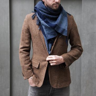 Chèche en laine tissée