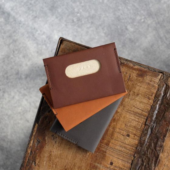Porte-carte en cuir pleine fleur