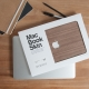 Couverture en bois pour Mac Book
