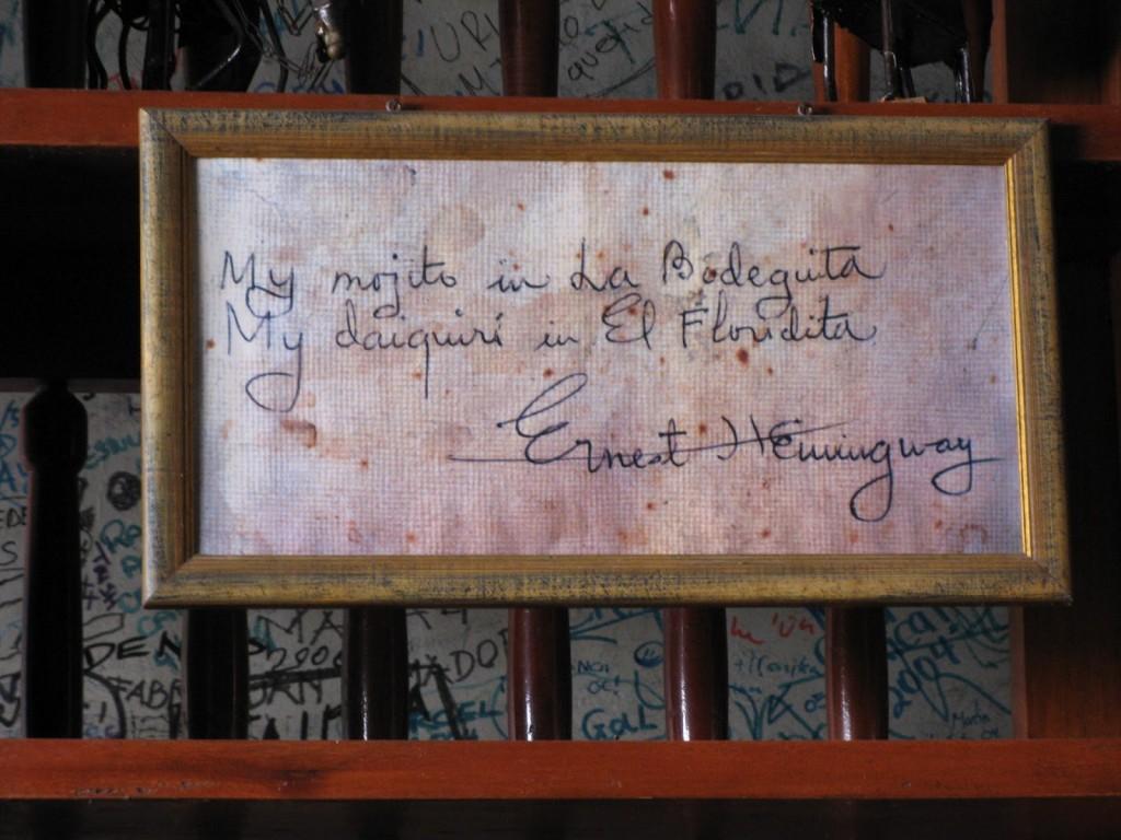 La bodeguita del Medio - Hemingway